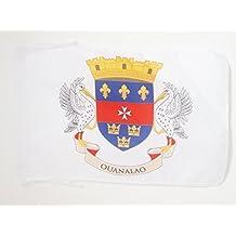 DRAPEAU SAINT-BARTHÉLEMY 45x30cm - PAVILLON DE SAINT BARTHÉLÉMY - FRANCE 30 x 45 cm haute qualité - AZ FLAG