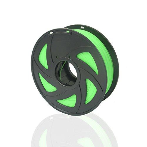 SIENOC 1 Packung 3D Drucker PLA 1.75mm Printer Filament - Mit Spule 1kg (Glühendes Grün)