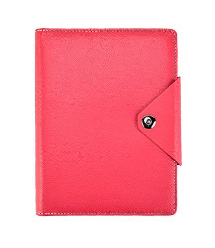Arpan Notizbuch Executive, A5, liniert, Einband gepolstert, mit Druckknopf-Verschluss A5 hot pink Hot Pink Karten-umschläge