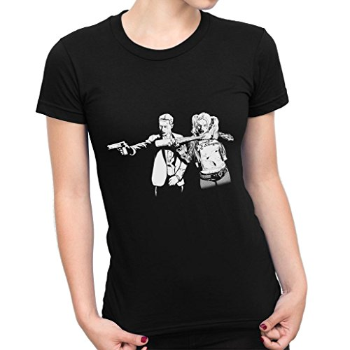 Pulp Fiction Joker Harley Quinn Suicide Squad Women's T-Shirt