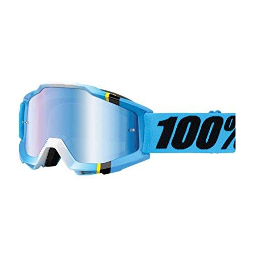 Mx Goggle 100 Percent Accuri-Anti Fog-Extra Clear Lens Bleu Crystal - Argent Mir (Default , Bleu)