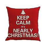 XiangChengShiDing Lin Kissenbezug, Weihnachten, Kissenbezug, für den Gebrauch zu Hause für den Weihnachtstag