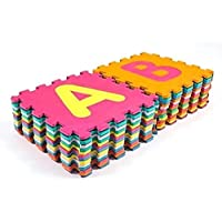 RBWTOYS Alphabet Puzzles Foam Mat A to Z Letters & Numbers for kids Activity rbwtoy18801-2. Play Mats 36pcs Each size 30x30cm.