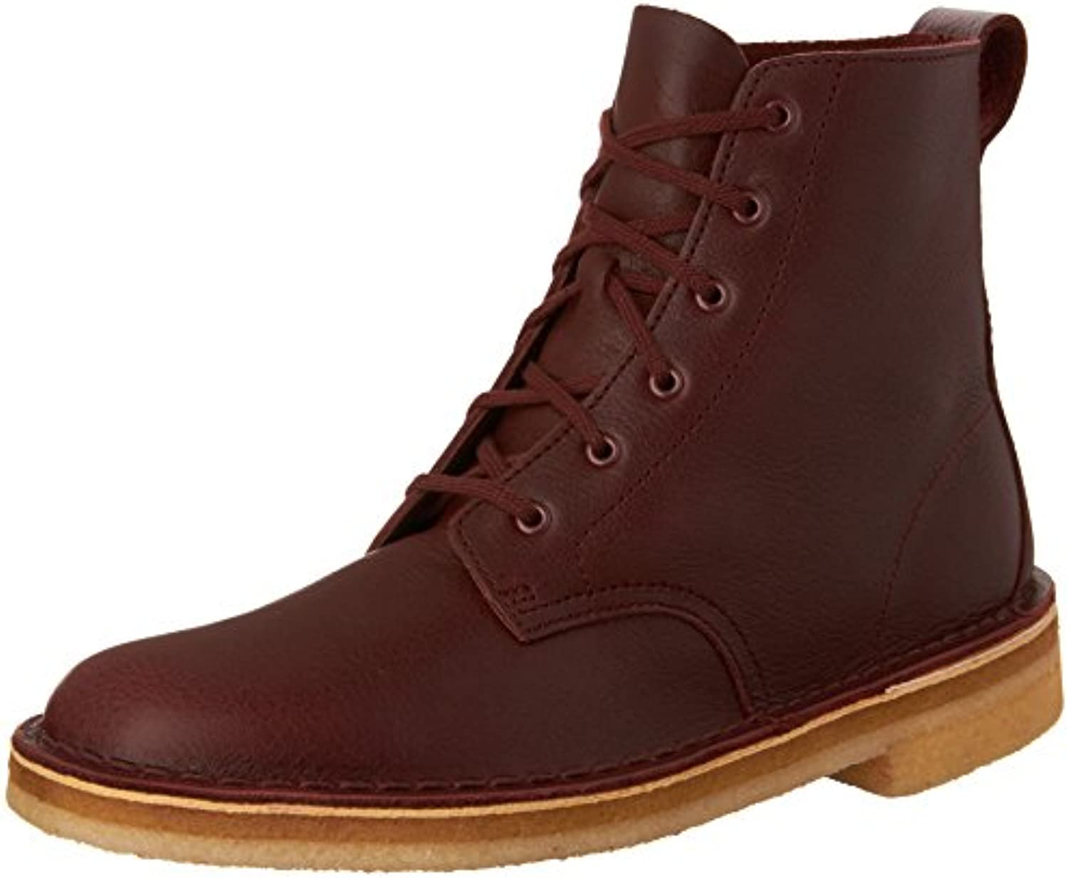 Clarks   Mens Desert Mali Low Boot  Size: 12 D(M) US  Color: Burgundy Tumbled Leather