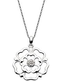 Heritage Sterling Silver and Gold Plate Carey Daffodil Necklace of Length 45.7cm 9230GD