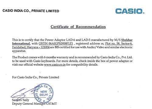 Casio-LAD-6-AC-Adaptor-95V-Power-Adaptor-for-Casio-Keyboard