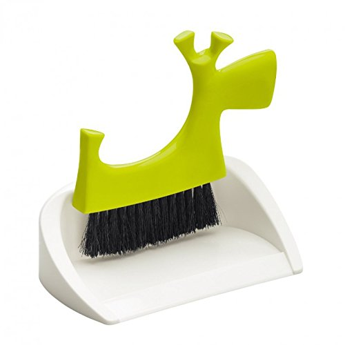 Koziol pic Bello-Ramasse-miettes pour Petits déchets de Table Vert et Solide Blanc