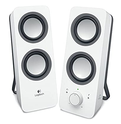 Logitech Z200 - Altavoces 2.0, color blanco nieve