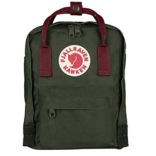 Fjällräven Kånken Mini Mochila de Senderismo Unisex Adulto, Multicolor (Forest Green/Ox Red), 7 l (29 x 20 x 13 cm)