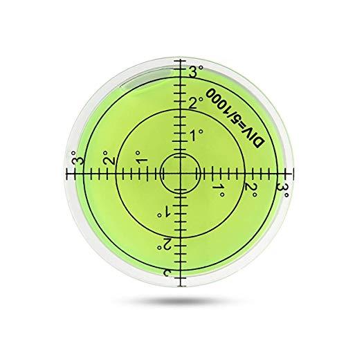EUTUOPU Bubble Spirit Level, 60mm Circular Bullseye Level Inclinometers Bubble Level Measuring Tools for Tripod/PRO Measuring/Camera -