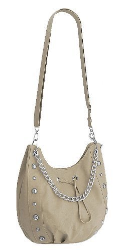 Eye Catch - Sac a main épaule Vespa clous chaine en simili cuir - Femme