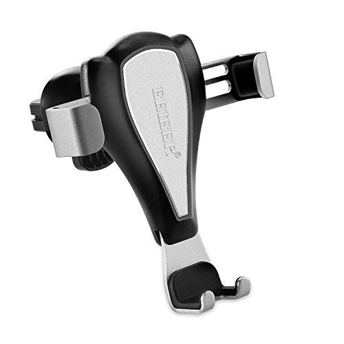 EEIEER Auto Handyhalterung Universal, Car Mount Vent Mount Handyhalter für Auto Air Vent Halter für Apple iPhone 6, Plus/5/5S/5C/4/4S, Samsung Galaxy S4/S6/S5/Hinweis 2/3 LG Google Nex (Silber) - Air-vent-mount
