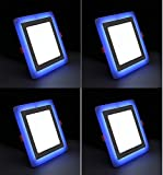 #1: 6W (3+3) LED Side Blue Square Ceiling POP Panel Light 3D Effect Lighting (Double Color) Pack of 4