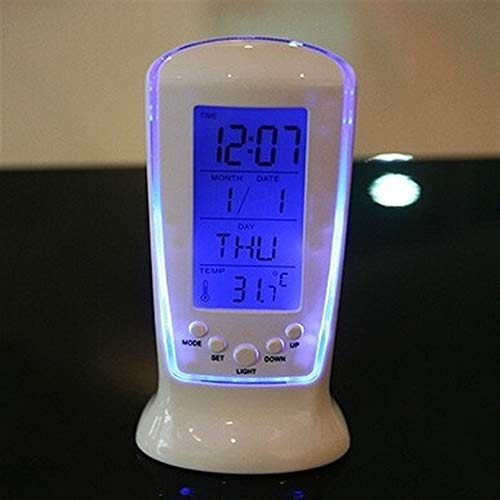 Ybqy Relojes Frozen Led Reloj Digital Despertador Reloj de Escritorio Reloj Despertador de cabecera Reloj electrónico Cuadrado Regalo for niños