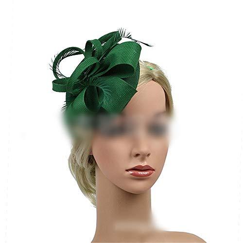 KERVINFENDRIYUN YY4 Palast-Haarzubehör der Hutspitzendiara Retro- Agent (Farbe : Grün) - Agent-kleid