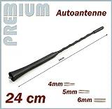 KFZ Antennenstab INION® Universal 24cm Kurz Stab Auto Antenne mit M4 M5 M6 Gewinde für BMW MINI COOPER - COOPER ROADSTER - COOPER Cabrio - - Radio UKW / FM - Dachantenne
