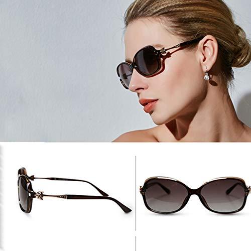 WangYi Sonnenbrillen- Sonnenbrille weibliche UV-Schutz polarisierte Fahrbrille, kann mit Kurzsichtigkeit, schwarz, militärgrün, Dunkelbraun, rote Datteln, lila ausgestattet Werden