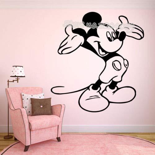 zqyjhkou Cartoon Mouse Wall Sticker per Bambini Camere Home Decor Bambino Nursery Adesivo in Vinile Pegatina De Pared Ea698 56x62 cm