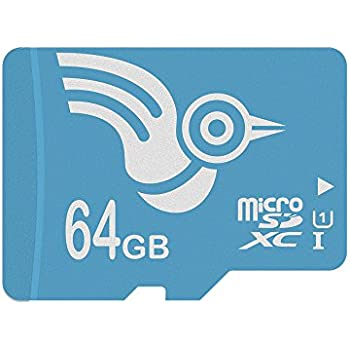 ADROITLARK Tarjeta Micro SD 64 GB de Alta Velocidad U1 Clase 10 Tarjeta de Memoria SD para GoPro/Cámara/teléfonos móviles/Tableta con Adaptador (U1 ...