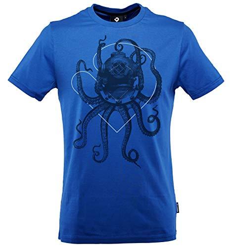 Lexi&Bö T-Shirt Taucher Tauchen Herren Nautical Octopus aus hochwertiger Bio-Baumwolle fair produziert in Portugal blau S