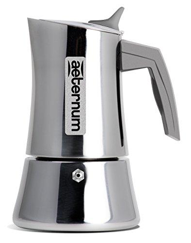 Divina Aeternum Cafetière 2 tasses en acier inoxydable 18/10, compatible induction