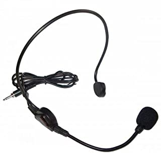 Azusa HM-02 Kopfmikrofon, Headset-Mikrofon, Kondensator-Mikrofon, schwarz