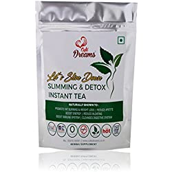 Cafe Dreams Slimming & Detox Instant Tea Pack of 4 (lemon green tea, lemon ginger green tea, lemon cinnamon green tea, Lemon mint green tea), 100g each
