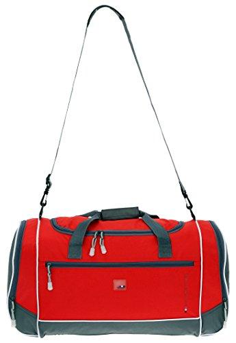 SPEAR Adventure Pro Sporttasche 60 cm mit 2 x Naßfach und Gurt (Marine-Blau) Rot