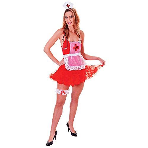 Bristol Novelty DS161Krankenschwester Set Deluxe, Damen, one size (Kopf Krankenschwester Halloween Kostüm)