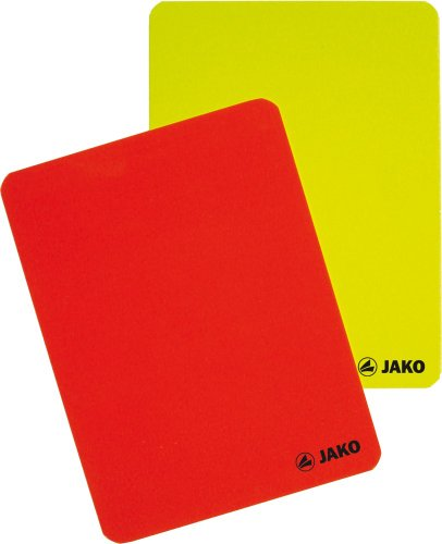 Jako Schiedsrichter Karten-Set, Rot/Gelb, One Size