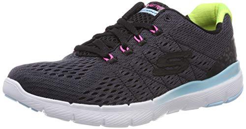 Skechers Damen Flex Appeal 3.0 Sneaker, Mehrfarbig (Black Multi Bkmt), 38 EU