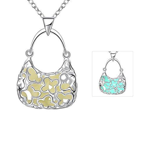 Borsetta a forma di donna moda luminoso collane romantico classico contratto creative personalità fine di gioielli per ragazze taglia unica green