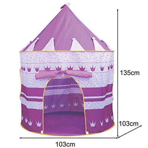 SAsagi Gefärbte Polyester leicht zu installieren kinderspielhaus,Großen Raum Kinder Zelt Playhouse mongolische jurte Rollenspiele Prinzessin Schloss-lila