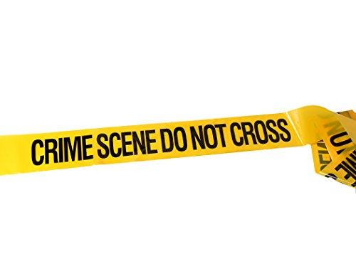 Krimiartikel, 30 Meter Tatort-Absperrband. Crime Scene Tape.