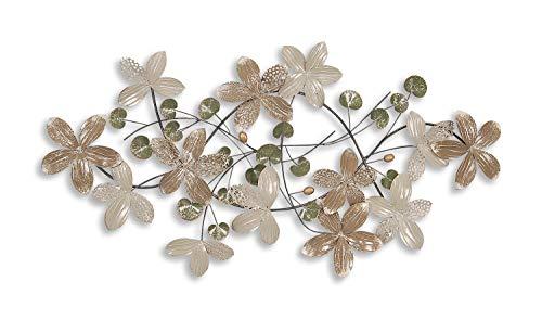 Adm composizione floreale quadro in metallo, scultura da parete, realizzato totalmente a mano con tecniche artigianali sp009a