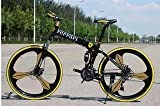 R CYCLES Men's Carbon Steel Foldable Adventure Sports MTB Cycle with Ferr Tag