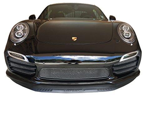 Zunsport Compatible avec Porsche 991 Turbo S Gen 1 - Ensemble calandre intégral - Finition Argent (2013 à 2015)