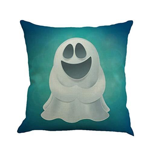 Meisijia Halloween Pillowcase Dekokissen Abdeckung Clever Geist schönes Bild für Leinenkissenbezug 45x45cm