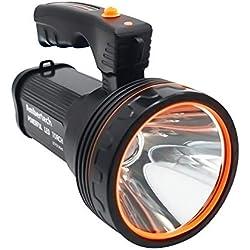 Ambertech Ricaricabile 7000 Lu Super LED Luminoso Searchlight Spotlight Torcia Flashlight Lanterna con Sharp Luce