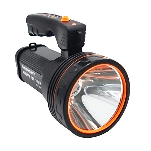 Ambertech Ricaricabile 7000 Lu Super LED Luminoso Searchlight Spotlight Torcia Flashlight Lanterna con Sharp Luce