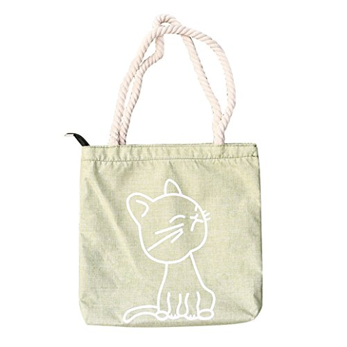Bluelans moda donna tela gatto lettera modello Crossbody spalla Borsa secchiello, Tela, 4#, 32cm x 1cm x 33cm/12.60 x 0.39 x 12.99 6#
