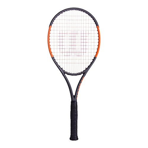 Wilson Burn Raquette de Tennis Mixte Adulte, Noir, 2