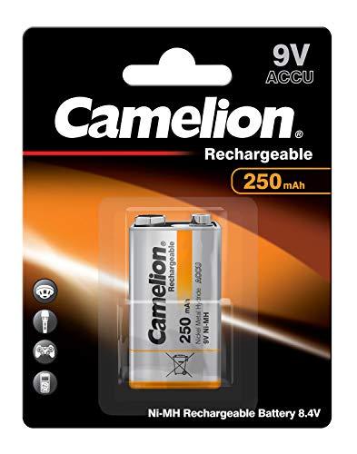Camelion 17025122 Akku (NiMH, 9 Volt Block, 250 mAh, 1er-Pack)