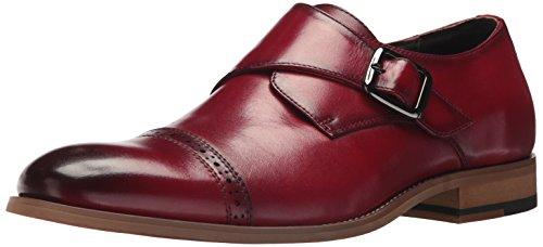 STACY ADAMS Men's Desmond Cap Toe Monk Strap Loafer, Cranberry, 12 W US Cap Toe Loafer