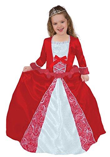 Ciao 14793 - principessina di cuori costume baby, 2-3 anni, rosso/bianco