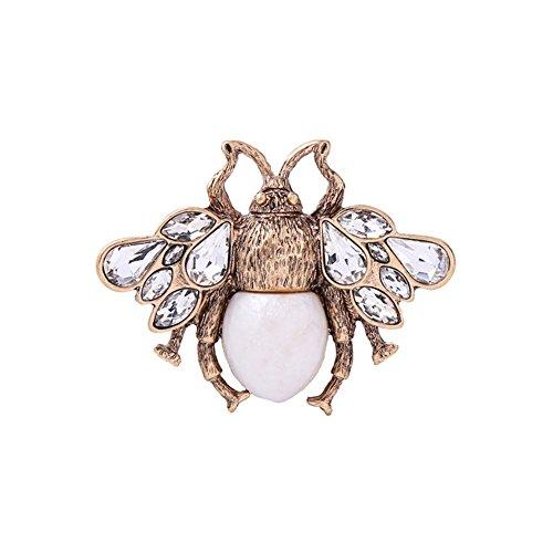 Tonpot Damen-Brosche mit Öl-Perlen, Vintage-Design, 1 Stück