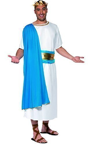 enator Toga Altgriechisch römischer Gladiator Historisches Kostüm Outfit (Römischer Senator Toga)