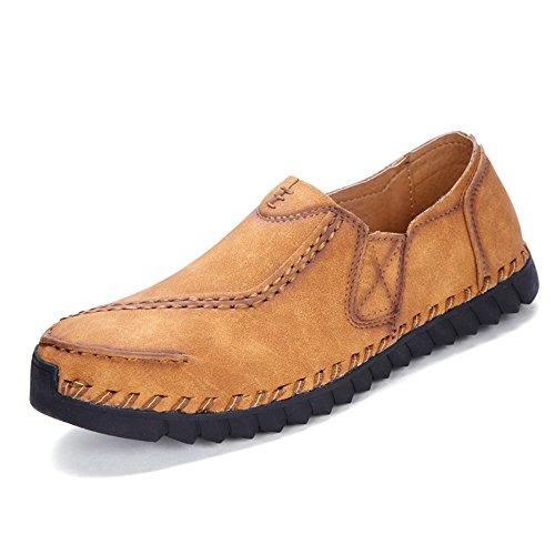 CUSTOME Homme Chaussures Cuir Appartement Glisser Sur Chaussures de Conduite Doux Lacer Respirant Loisir Poids Léger Confortable Décontractée Chaussures