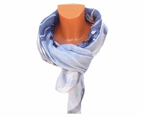 XXL damentuch foulard foulard foulard sommerschal schultertuch nouvelles frühjahrskollektion 2015. Gris - Trend Grau Blau