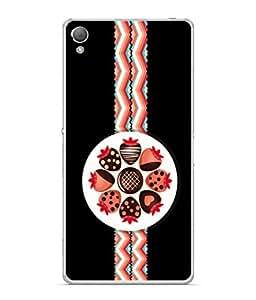 PrintVisa Choco Strawberry High Gloss Designer Back Case Cover for Sony Xperia XA :: Sony Xperia XA Dual